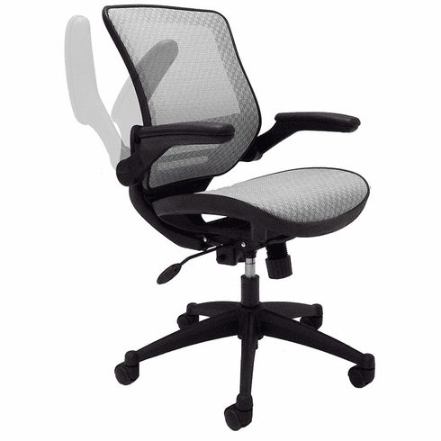 Elastic All Mesh Ergonomic Office Chair W Flip Up Armrests