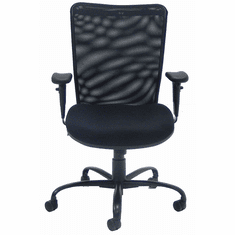 ErgoBuilt 24/7 400 Lbs. Capacity Black Mesh Office Chair