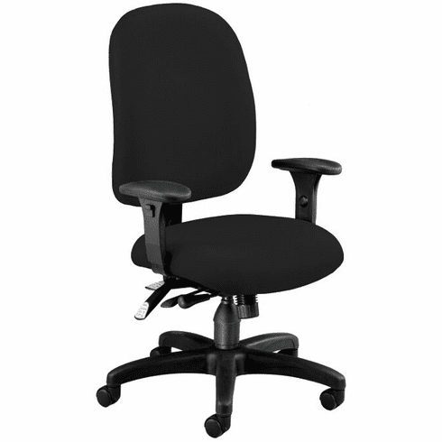 Ergonomic Executive Computer Chair in Black Fabric