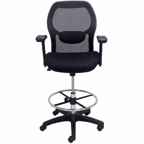 "Ergonomic Mesh Back Ultra Office Stool w/21""-28"" Seat Height"