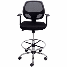 "Ergonomic Mesh Drafting Stool w/23""-30"" Seat Height"