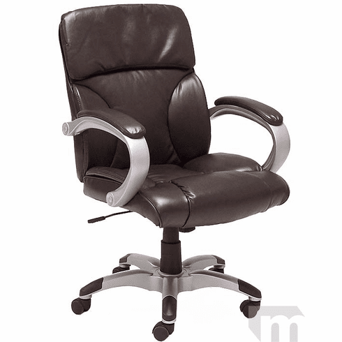 Espresso Brown Leather Pillow Cushion Office Chair
