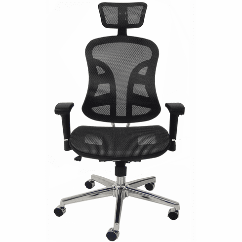 Executive Elastic All-Mesh Ergonomic Chair w/Headrest