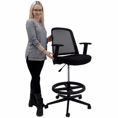 "Extended Range Office Stool - 22""-31"" Seat Height"