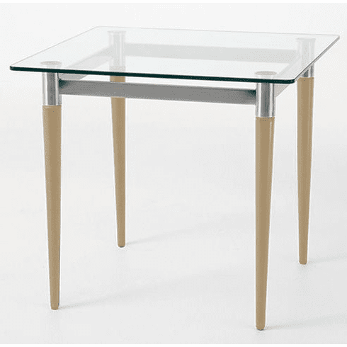 """Glass Reception End Table & Coffee Table Series - 22"""" Square End Table"""