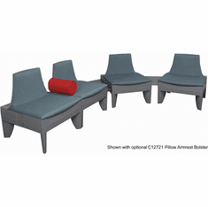 Gray J-Shape Corner Reception Seating Package
