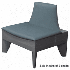 Gray Modular Reception Chair