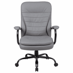 400 Lbs. Capacity Gray Polyurethane Heavy Duty Executive Chair