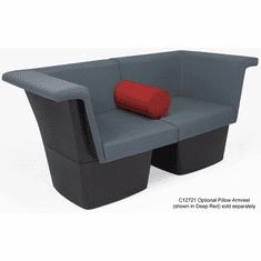 Gray Reception Group Seating -  2-Seat Sofa