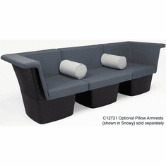 Gray Reception Group Seating -   3-Seat Sofa