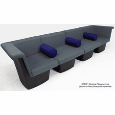 Gray Reception Group Seating - 4-Seat Sofa