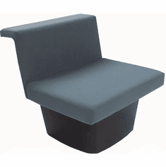 Gray Reception Group Seating - Armless Modular Chair