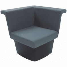Gray Reception Group Seating - Corner Modular Chair