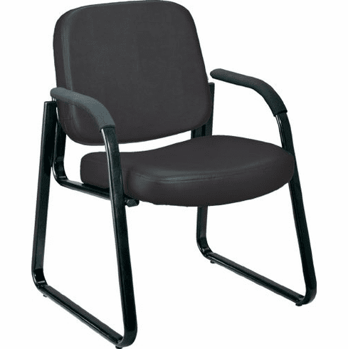 Guest / Reception Area Chair in Black Vinyl