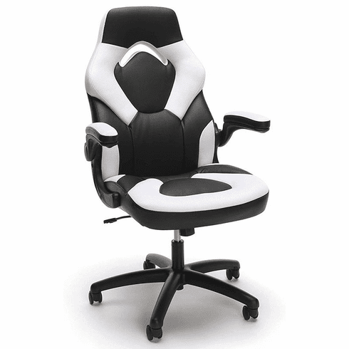 High Back Leather & Mesh Fabric Gaming Chair