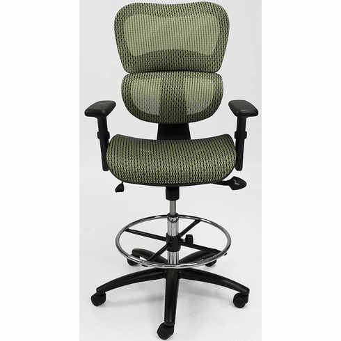 "HumanFlex Elastic All-Mesh Office Stool w/22""-30"" Seat Height"