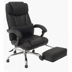 Leather Reclining Office Chair in Black