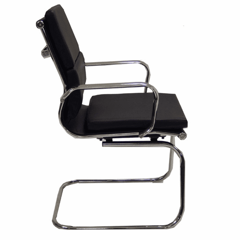 Leather Soft Pad Guest Office Chair