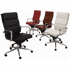 Leather Soft Pad High Back Office Chair