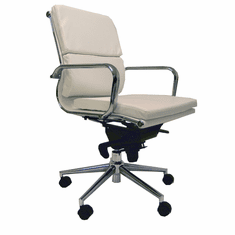 Leather Soft Pad Low Back Office Chair