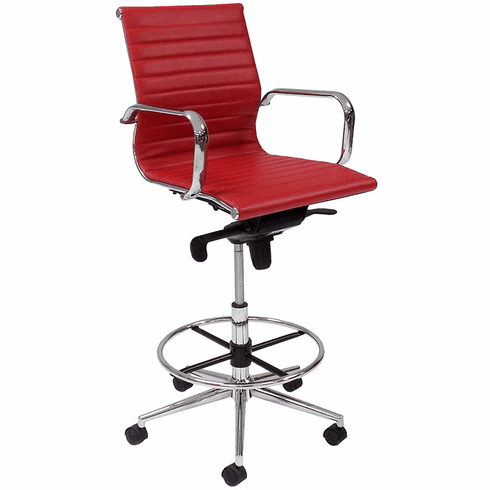 """Modern Classic Office Stool w/23""""-32"""" Seat Height"""