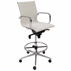 """Modern Classic Office Stool w/28""""-31"""" Seat Height"""
