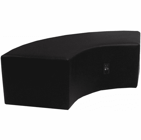 Modular  Black Leather Powered & USB Charging Ottoman/Connector Table