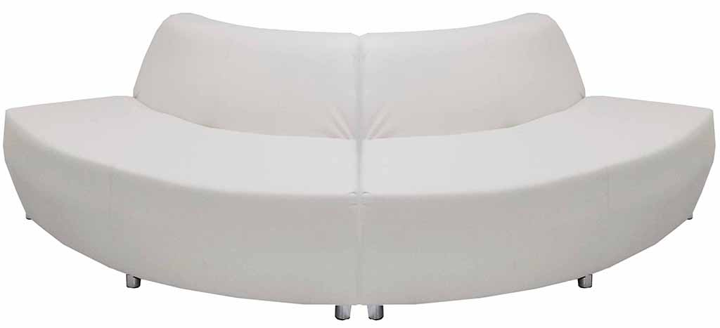 Enjoyable Modular White Leather Curved Convex 120 Degree Sofa Caraccident5 Cool Chair Designs And Ideas Caraccident5Info