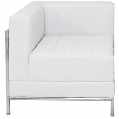 Modular White  Tufted Corner Chair
