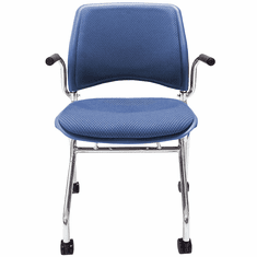 Padded Flip Seat Nesting Chair w/ Armrests & 300-Pound Capacity