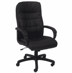 PlushTuft Leather Executive Office Chair