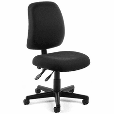 Posture Computer Task Chair in Black Fabric