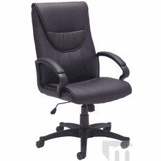 Premier Black Leather Executive/Conference Office Chair