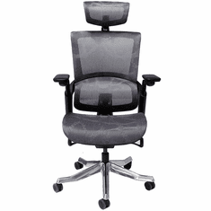 Premium Elastic Mesh Office Chair with Headrest & 300 lbs. Weight Capacity