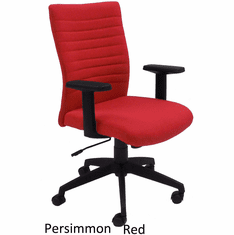 Red RetroTasc Linen Office Chair