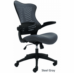 Sleek Ergonomic All-Mesh Chair w/Flip Up Arms