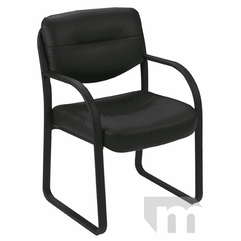 SteelWorks Leather Reception Room Chair