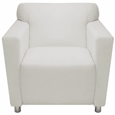 White Leather Lobby Seating Series - White Leather Club Chair