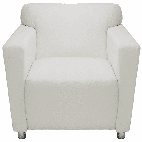 Miraculous White Leather Lobby Seating Series White Leather Club Chair Ibusinesslaw Wood Chair Design Ideas Ibusinesslaworg