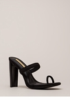 On Your Toes Strappy Chunky Heels