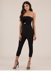 Gifted Strapless Bow-Front Jumpsuit