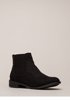 Simple Style Short Faux Suede Booties