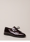My Style Fringed Faux Patent Loafers