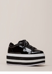 In The Heights Striped Platform Sneakers
