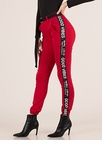 Good Vibes Striped Jogger Trousers