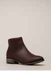 Plain And Simple Faux Leather Booties