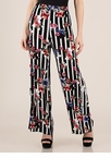 Prints And Palazzos Striped Floral Pants
