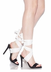 Sash Me If You Can Lace-Up Heels