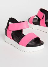 Big Time Faux Leather Wedge Sandals