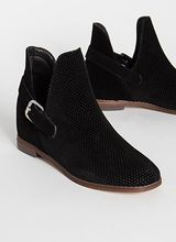 Side Kicks Buckled Cut-Out Booties